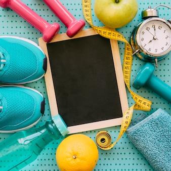 Decoratief fitness concept met leisteen