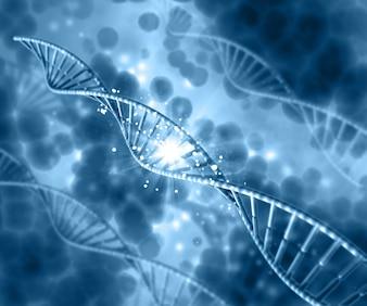 DNA op een wazige blauwe achtergrond