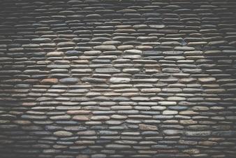 Echte stenen muur oppervlak, Donker retro filter