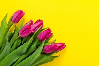 Floral vele kaartkader paars