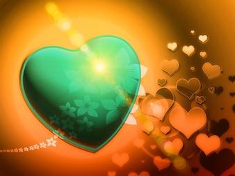Fractals speelse liefde romantische hart fractaal