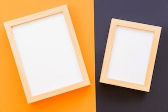 Frames op gele en zwarte achtergrond