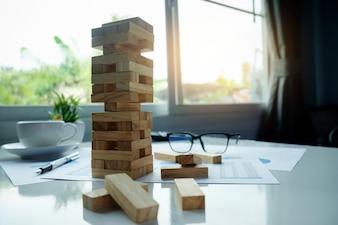 Gebouw organisatie onzekerheid keuze abstract risico