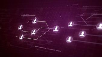 Gebruikers Mensen Netwerk Circuit Board Link Connection Technology