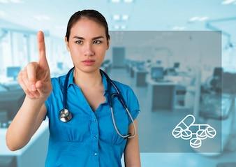 Geconcentreerde knappe medische hospital