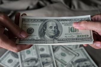 Geef een geld Amerikaanse dollar (USD)