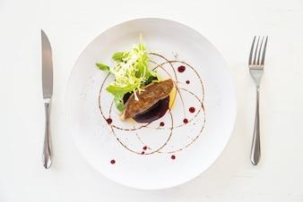 Gegrilde foie gras