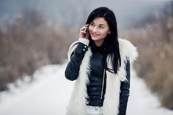 Gelukkig trui mode meisje winter jong