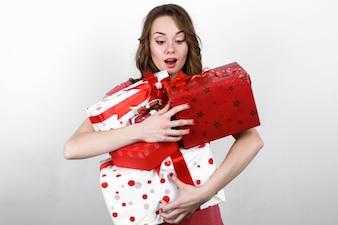 Gift helder doos emotionele verrassing