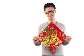 Glimlach jonge decoratie hooi gentleman