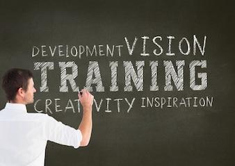 Gloeilamp doordachte training visie liggende