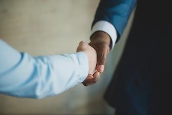 Handshake bekijken van achteren