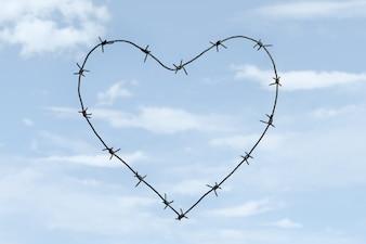Hemel heilige symbolische grens wire