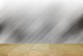 Houten bord met abstracte achtergrond in grijze tinten.