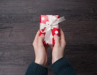 Houten papier kerst ruimte lint