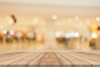 Houten planken met glanzende achtergrond