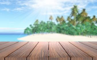Houten planken op een zonnige dag