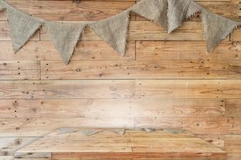 Houten tafelblad of plank met achtergrond