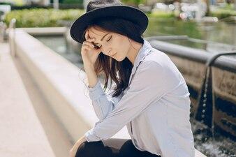 Jonge model brunette