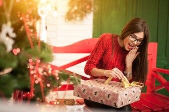 Jurk vrouw kerstjaar portret