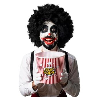 Killer clown die popcorn eet