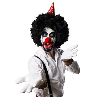 Killer clown presenteren iets
