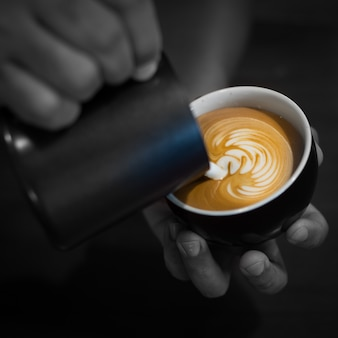 Kleur klasse latte aanwezig barista