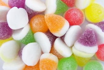 Kleurrijke Jelly Candy Achtergrond