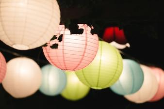 Kleurrijke lantaarns