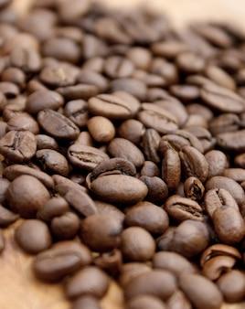 Koffiebonen ondiepe scherptediepte gebruikt