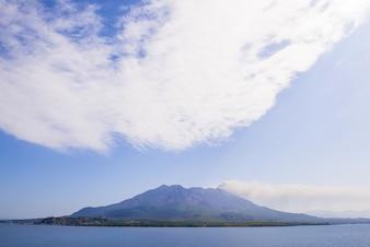 Landschap van eenzame berg