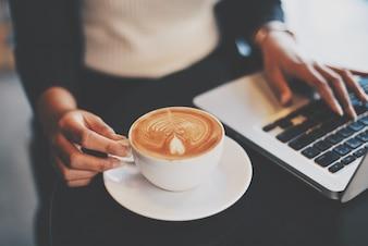 Latte winkel student cafe ochtend