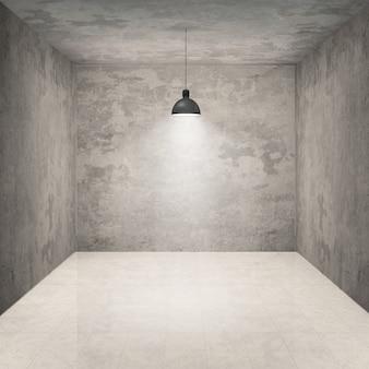 Lege ruimte met lamp