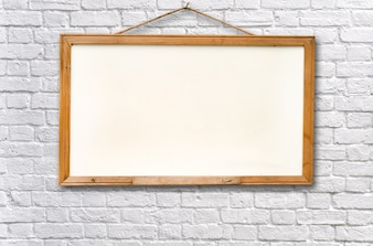Lege witte bord op muur textuur achtergrond