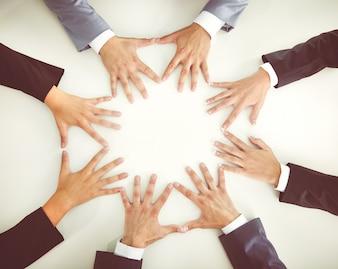 Menselijk gezelschap bedrijf vinger samen