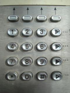 Metalen telefoon kiestoetsen