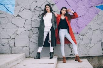 Mode meiden in de stad