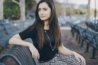 Mooi brunette meisje