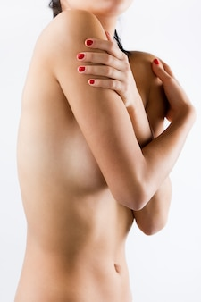 Mooi sexy naakte vrouw's lichaam