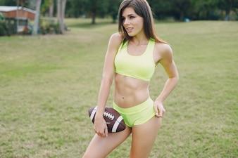 Mooi sportief meisje