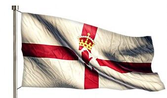 Northern Ireland National Flag Geïsoleerde 3D Witte Achtergrond