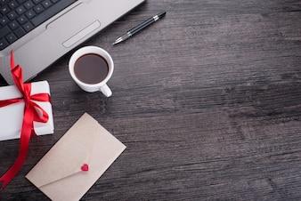 Notebook lijst achtergrond office mail