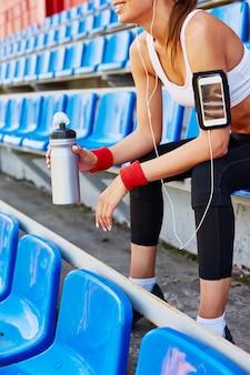 Oortelefoons workout vrije tijd actief rij