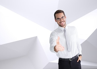 Overhemd stropdas grafisch beroep de hand