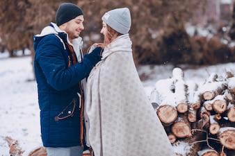 Paar in het park