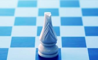 Paard in een schaakbord
