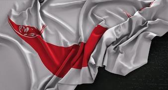 Paaseiland Vlag Gerimpelde Op Donkere Achtergrond 3D Render
