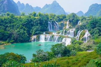 Park valt landelijke bomen paradijs vakantie