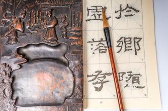 Penholder achtergrond Inheemse pen traditionele schetsen