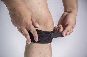 Pijn elastische voeg compressie object
